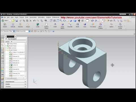 Siemens Nx CAD Basic Modeling Training Tutorial for Beginner - 1 | UG NX