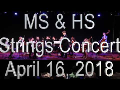 MS and HS Spring Strings Concert 2018