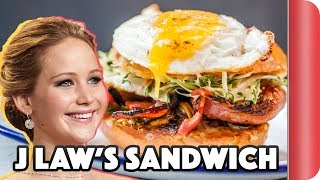 Making A Sandwich For Jennifer Lawrence | Step Up To The Plate