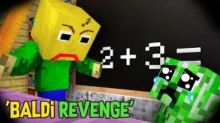 Monster School : FUNNY BABY MONSTERS Vs BALDI - REVENGE (PART 2) : Minecraft Animation