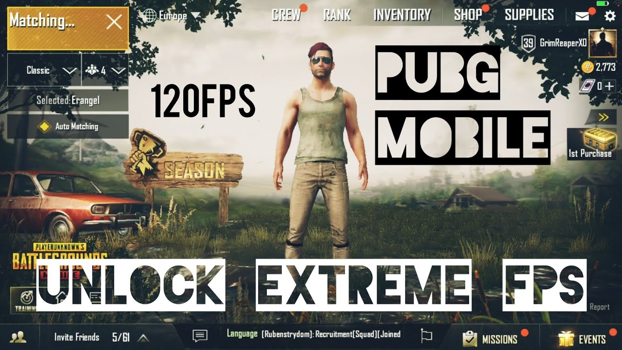Pubg Mobile Unlock Extreme Fps | 120Fps