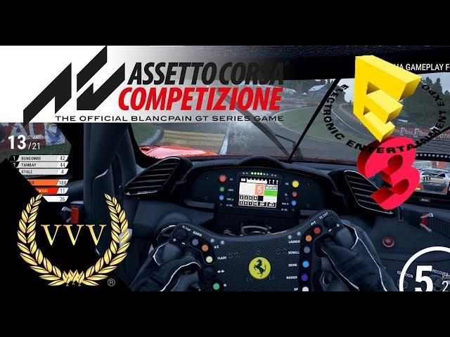 Assetto Corsa Competizione - Spa Wet - E3 2018