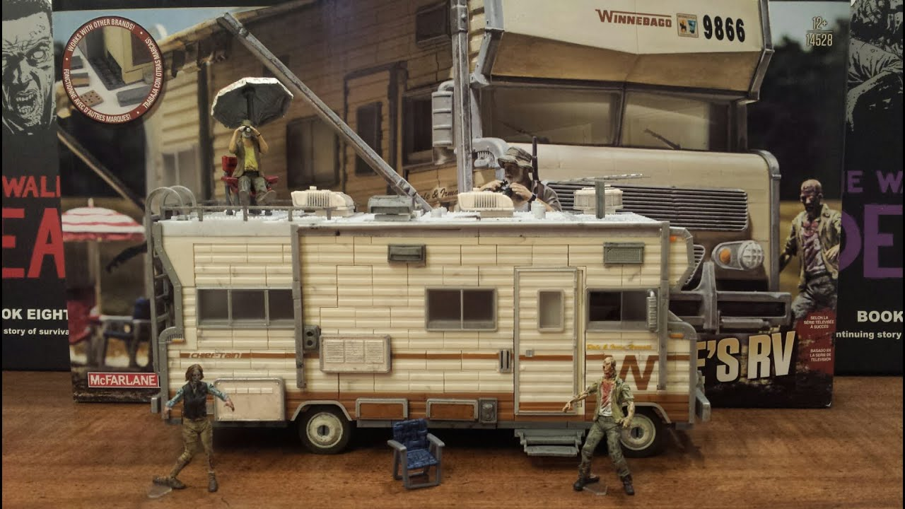 The walking dead Dales RV building set review (HD) - YouTube