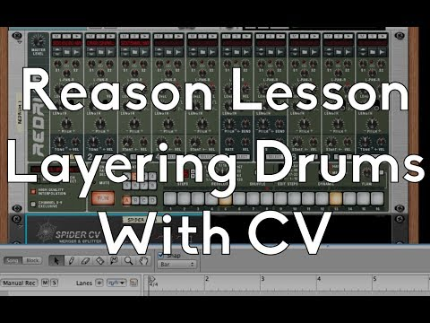 Propellerheads Reason 201 - Redrum - Layering Drums with CV