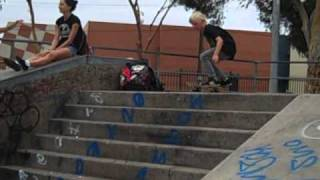 10 Year Old Kick Flip Over Seven Stairs