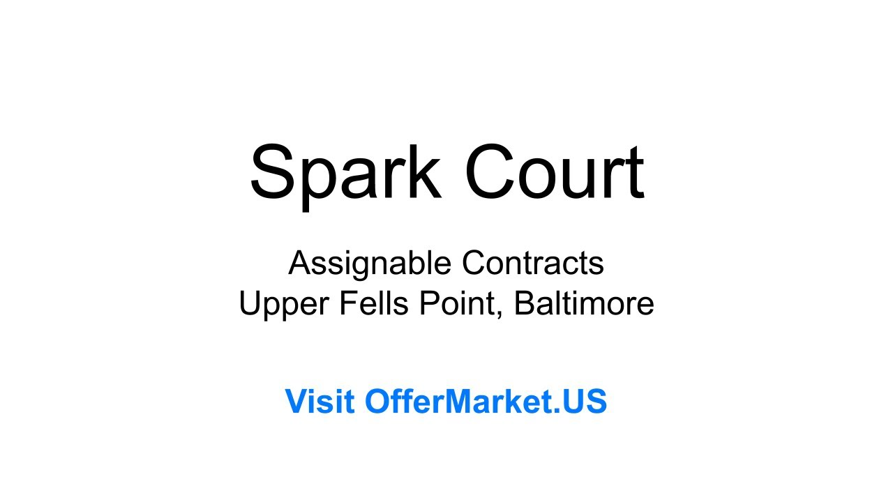 Wholesale Real Estate: 2003, 2004, 2007 and 2009 Spark Court, Upper Fells Point, Baltimore, MD