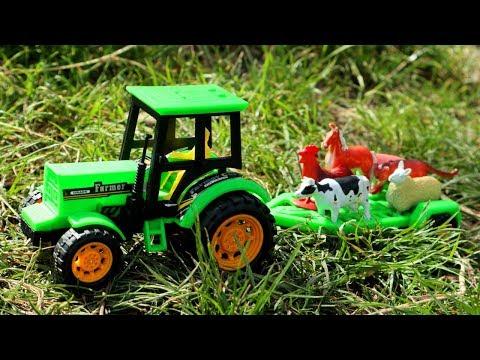 видео: Трактора на ферме. Машины для детей.  Мультик про трактор для детей
