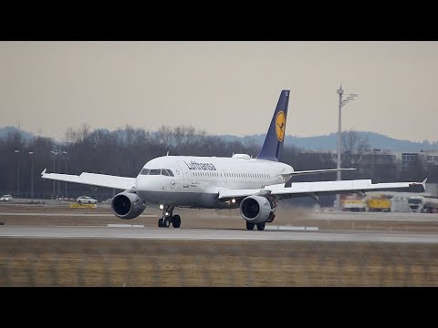 45 min Munich Airport Plane Spotting Landing Takeoff A350 A340 A330 Boeing 747 777 737 and many more