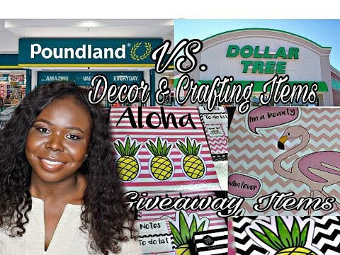 Poundland vs. Dollar Store - Decor & Crafting items - Giveaway Closed