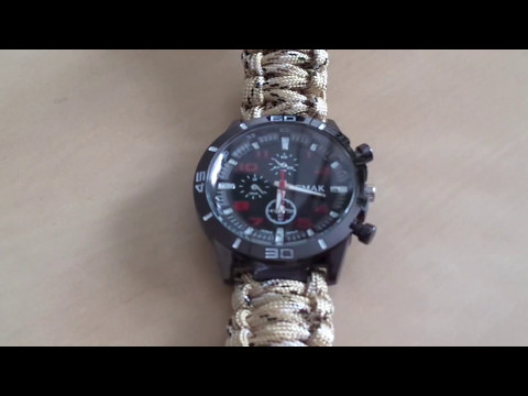 EMAK outdoor survival watch bracelet - acu camouflage