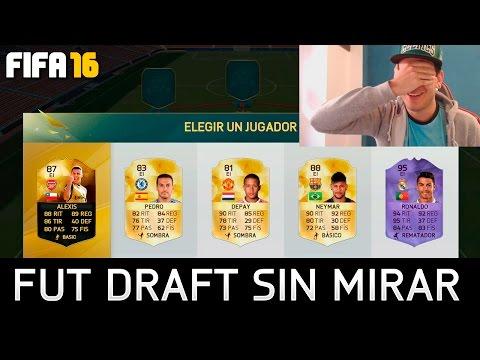 INCREIBLE FUT DRAFT SIN MIRAR - FIFA 16 A CIEGAS