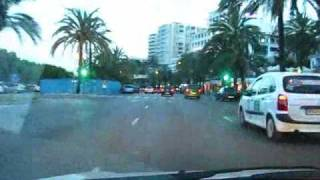 Mallorca Travel: Driving past the Cathedral La Seu in Palma de Mallorca at Sunset