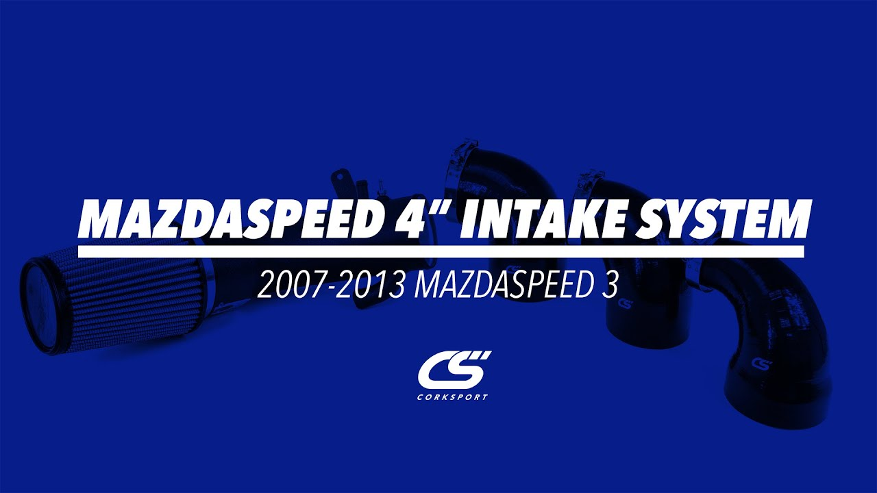 "CorkSport 4"" Intake System for 2007-2013 Mazdaspeed 3"