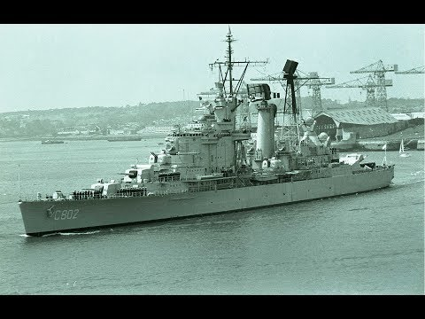 ROYAL NETHERLANDS NAVY HNLMS DE ZEVEN PROVINCIEN C802 LEAVES DEVONPORT - 27th May 1975 (SLIDE SHOW)