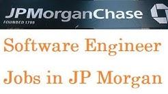 Software Engineer Jobs in JP Morgan