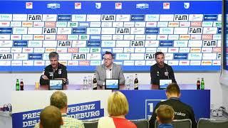 Pressekonferenz 1. FC Magdeburg gegen FC Ingolstadt 1:1 (1:1)