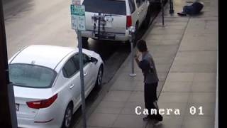 Assault with a Deadly Weapon Suspect Caught on Video  NR17353ti
