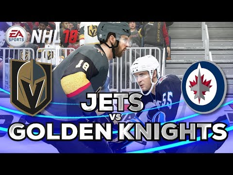NHL 18 Gameplay | Winnipeg Jets vs Vegas Golden Knights