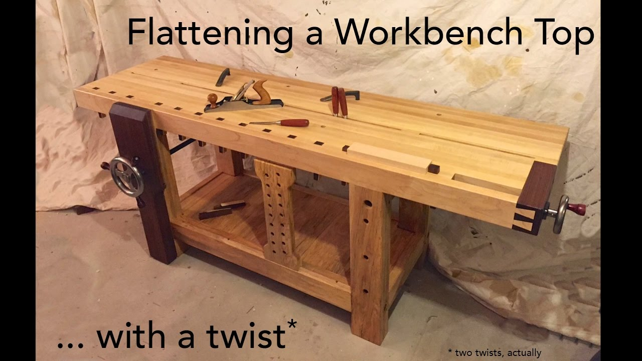 Flattening a Workbench Top with a Twist - YouTube