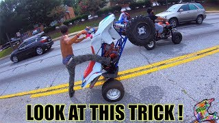 ATV RIDERS GO WILD IN ATLANTA !