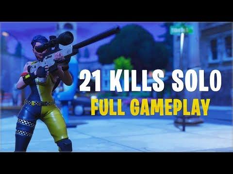 21 Kills Solo | Console - Fortnite Gameplay