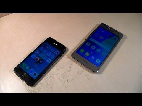 Samsung Galaxy J2 Prime vs iPhone 5 (HD)