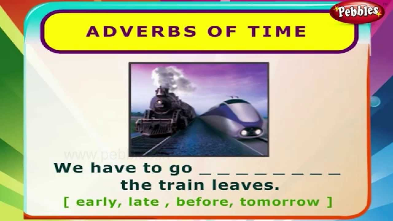 Adverbs Of Time English Grammar Exercises For Kids English