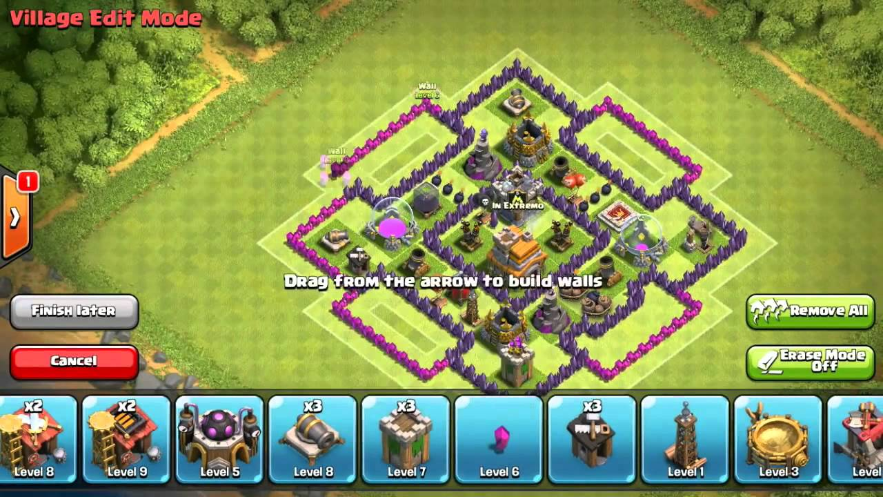 Base Coc Th 7 Terkuat War 6