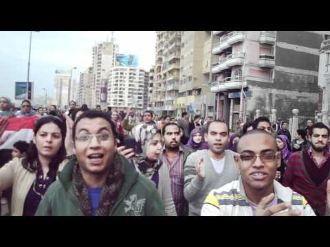 Egyptian Bloggers and Journalists in Alexandria Demonstrations