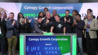 Canopy Growth Corporation opens Toronto Stock Exchange, July 26, 2016