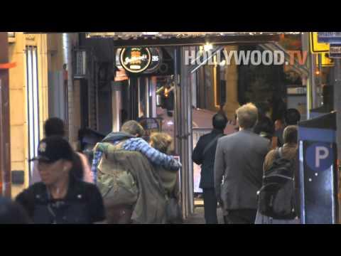 Andrew Garfield and Rashida Jones show PDA... Where's Emma Stone?!?!?