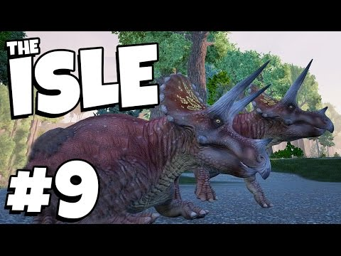 TRICERATOPS - MY FAVOURITE DINOSAUR! | The Isle (Early Access Gameplay Part 9)
