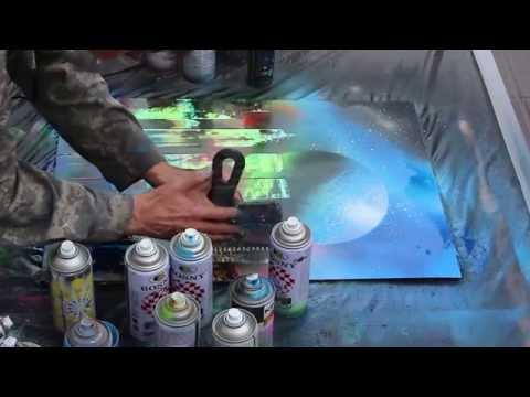 Арбат, уличные художники.
