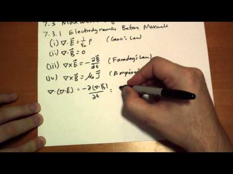 7.3.1 Electrodynamics Before Maxwell's Equations