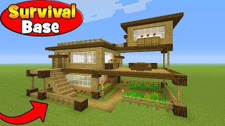 Minecraft Tutorial: How To Make A Survival House in Minecraft