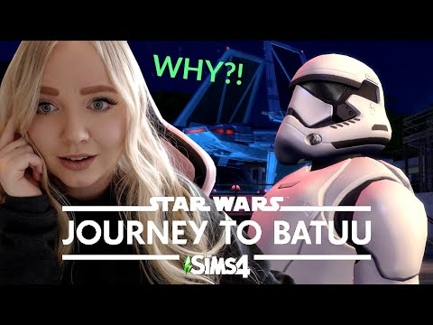REACTING TO STAR WARS IN THE SIMS WITH MY BOYFRIEND | Sims 4 Star Wars: Journey to Batuu Trailer |
