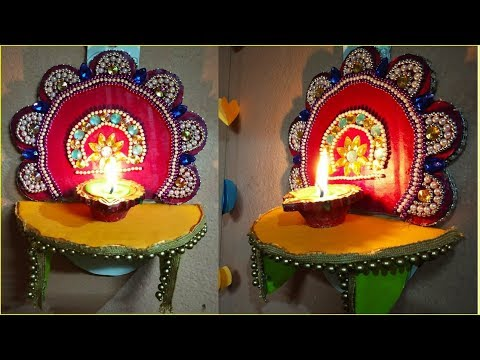 How To Make a Wall Hanging Diya Stand  | Diwali Craft idea | Diwali Special | Sucheta Creations