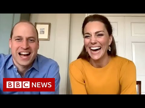 Coronavirus: William and Kate video call key workers' children - BBC News