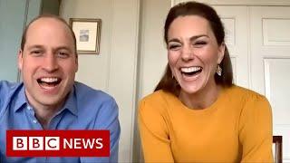 Coronavirus: William and Kate video call key workers' children - BBC News