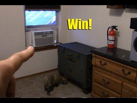 Bedroom window AC running on my solar generator