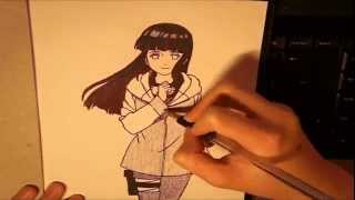 How to Draw Hinata Hyuuga -  Naruto
