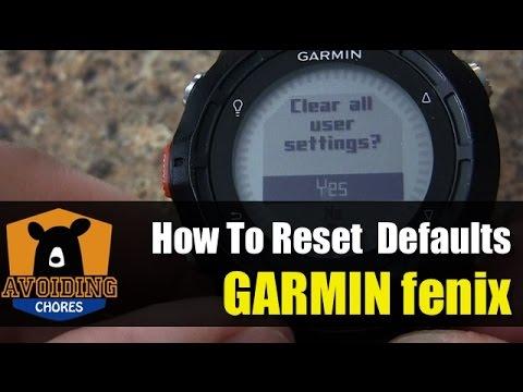 Garmin fenix - How To Reset