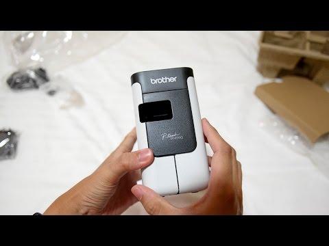 브라더 PT-P700 라벨 프린터 개봉기