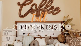 🍁FALL COFFEE BAR🍁| DECORATE WITH ME