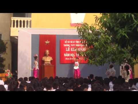 Mùa khai giảng cuối cấp của tôi tại school Trần Quang Khải_tp Nam Định