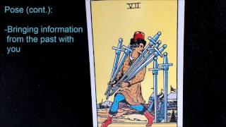 Seven of Swords; Symbols of the Rider Waite Smith Tarot