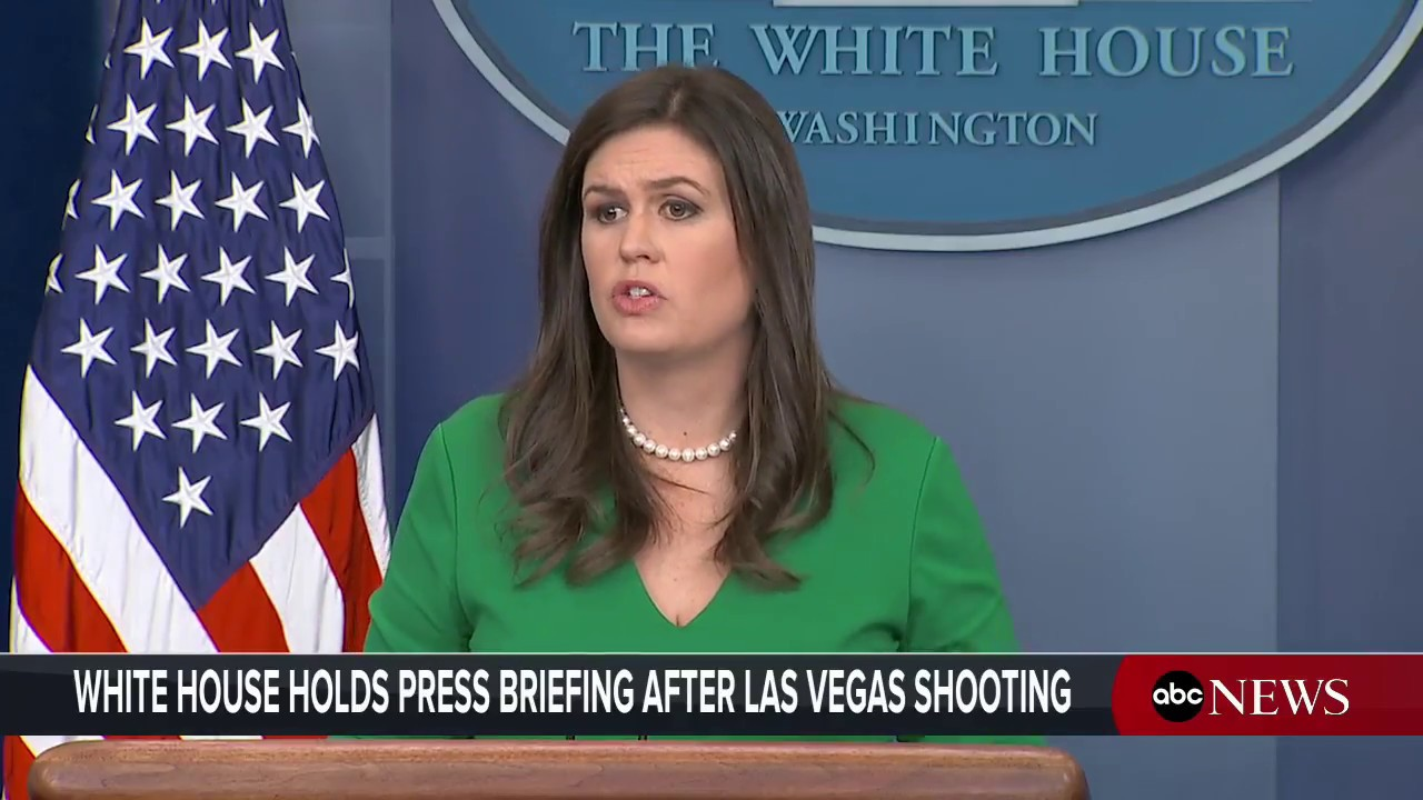 White House Press Briefing, Pres. Trump Holds Moment Of Silence After  Deadly Las Vegas Shooting