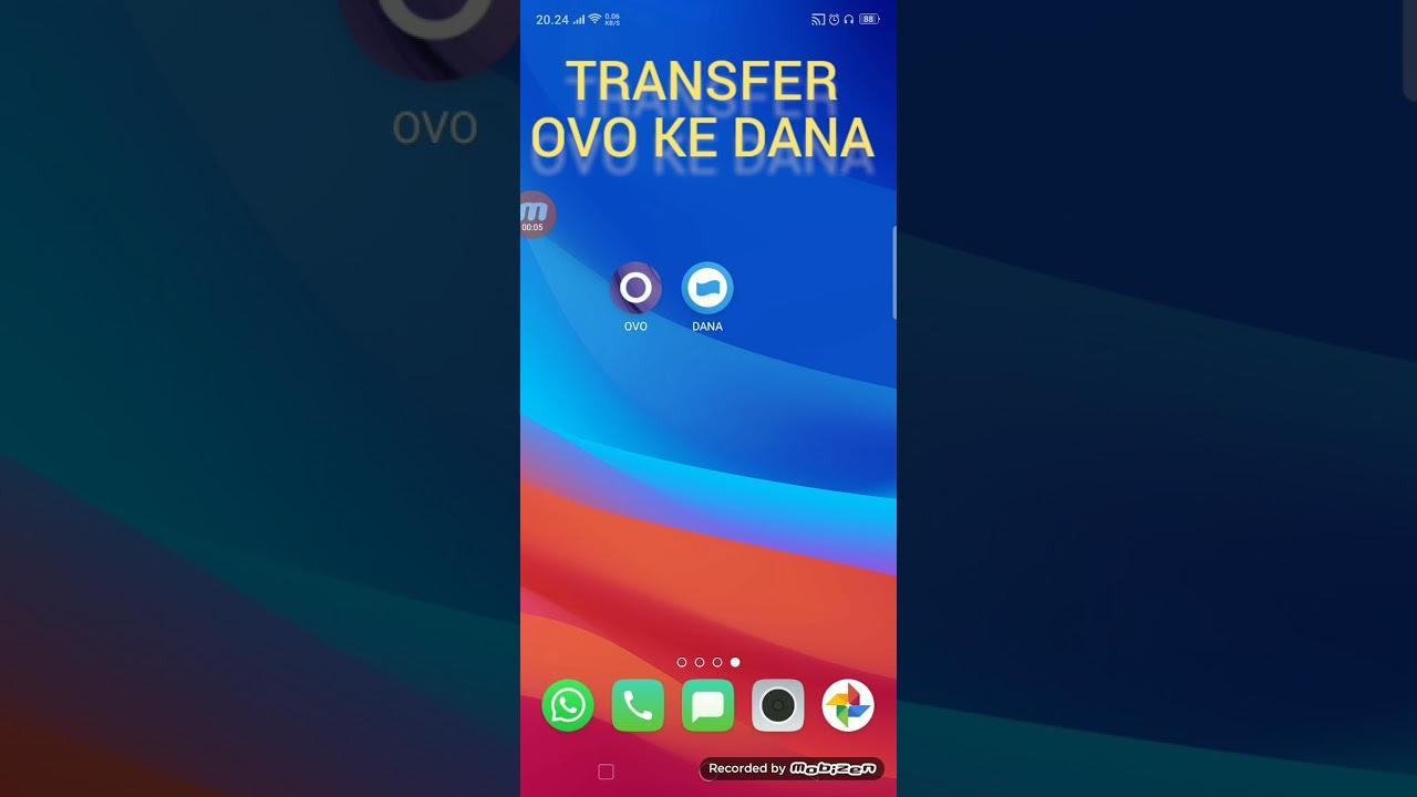 Cara transfer uang dari OVO ke DANA - YouTube