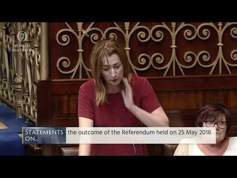 'Like an enormous weight being lifted': Applause for Clare Daly's heartfelt referendum speech
