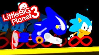 LittleBigPlanet 3 - Painted Sonic - Full Game Playthrough - PS4 Gameplay